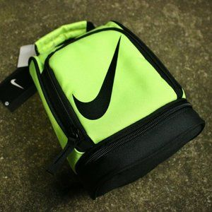 Nike Lunch Box Bag Yellow Black Zippered Two Compa